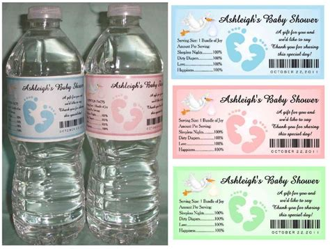create baby shower water bottle labels