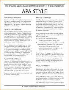 APA Style Format Example Paper