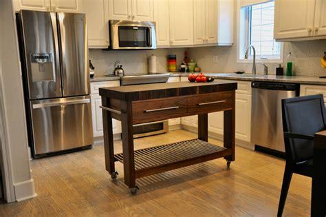 how to organize my kitchen walnut butcher block server island modern kitchen 7303
