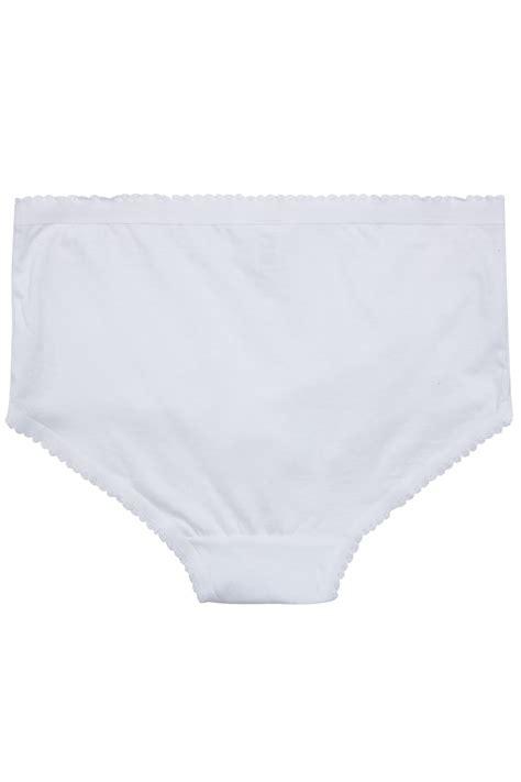 White Pair Pack Cotton Full Brief Plus Size
