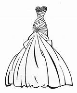 Dress Coloring Pages Outline Princess Printable Own Clothes Gown Getcoloringpages Cinderella Sketch Sketches sketch template