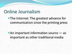 Online journali... Journalism Definition