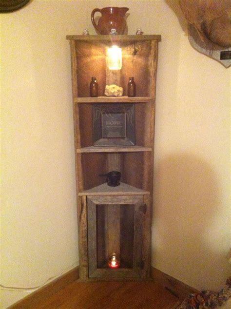 diy furniture barnwood corner shelf diy loop leading