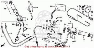 Honda Vt600c Shadow Vlx 1993  P  Usa California Switch