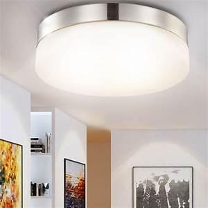 Led Wohnzimmer Deckenleuchte : led 18 watt deckenleuchte nickel glas deckenlampe ~ Lateststills.com Haus und Dekorationen