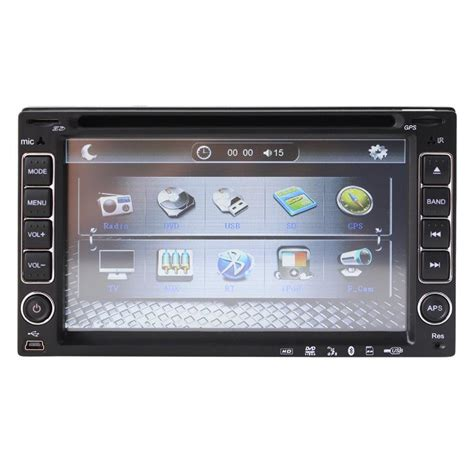 universal 2 two din 6 2 inch car dvd player audio radio stereo usb sd bluetooth tv