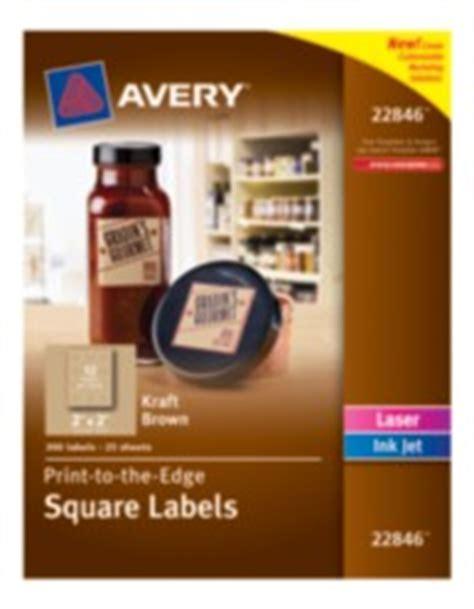 labels avery print   edge kraft brown square labels