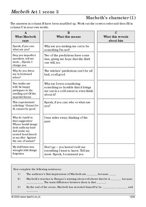 worksheet macbeth worksheets grass fedjp worksheet study
