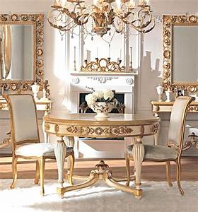 French Classic Dining Room Furniture With Small Round ...
