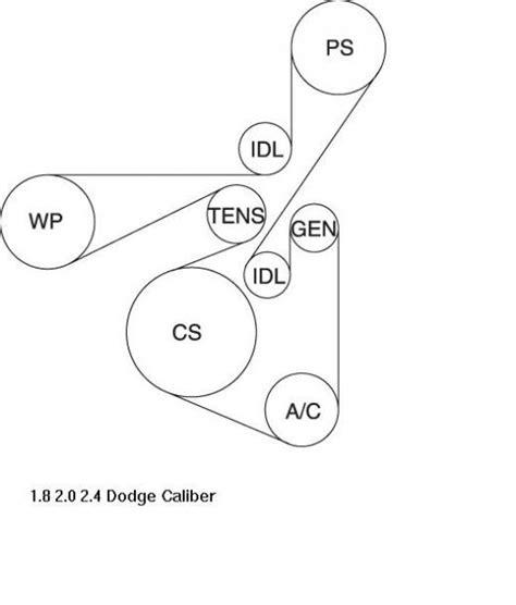 hyundai accent 2006 engine 2007 dodge caliber 1 8l 2 0l 2 4l serpentine belt