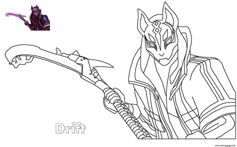 Drift Ultimate Fortnite Coloring Pages Printable