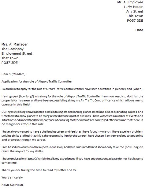 air traffic controller cover letter exle icover org uk