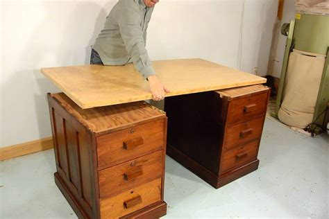 desk with drawers on both sides trash to treasure antique desk drawers