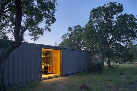 shipping container house dwell boxes container cabin modern home in california by yamamar Hightree