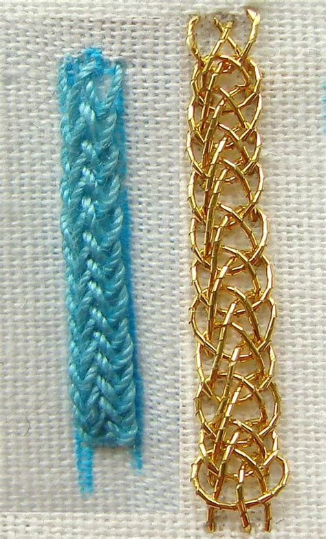 pleated braid stitch  beginners