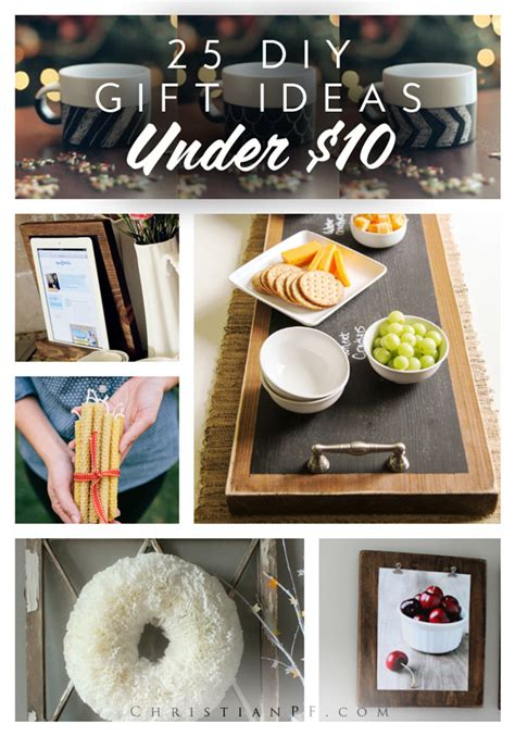 25 diy gift ideas for under 10