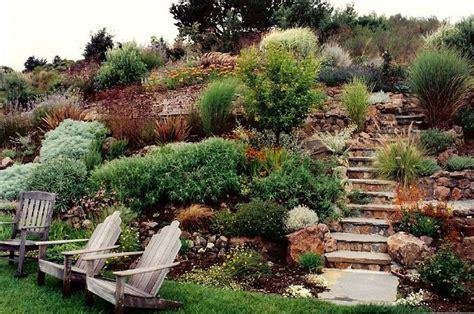 hillside gardening hillside landscaping outdoor spaces pinterest