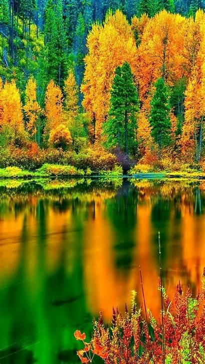 Autumn Iphone Wallpapers Nature Lake Plus Landscape