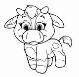 Cow Coloring Cows Pages Baby Chibi Printable Cartoon Drawing Little Draw Print Face Template Bow Tail Popular Sketch Getcolorings Getdrawings sketch template