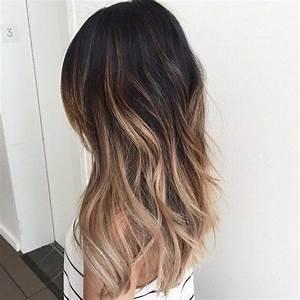 Ombré Hair Blond Foncé : corte bob largo y balayage ~ Nature-et-papiers.com Idées de Décoration