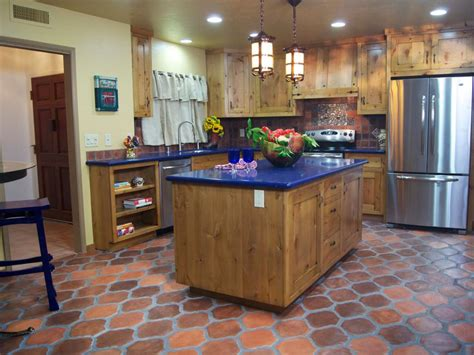 outdated kitchen  colorful spanish style cocina diy
