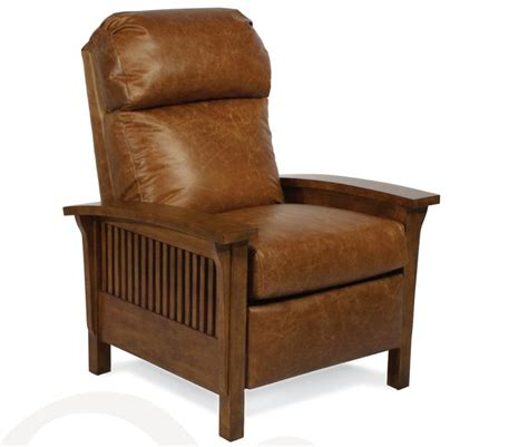 mission leather chair mission style recliner in chaps leather leather