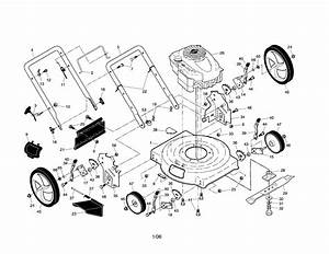 Engine  Deck  Handle  Wheels Diagram  U0026 Parts List For Model