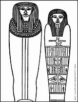 Sarcophagus Ancient Printable Coloring Egypt Mummy Egyptian Woman Married Clipart Tomb Map Couple November Border Borders Paper Shiny Adult sketch template