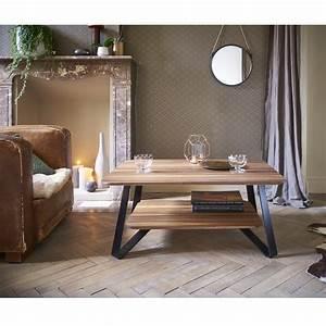 walnut coffee table annita audrey savelon meubles With table basse bois noir