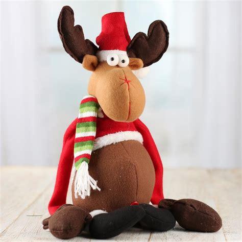beanie mittens christmas reindeer plush muslin dolls