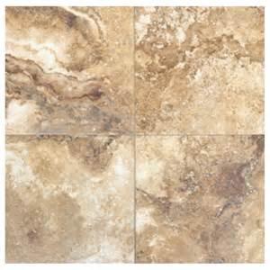 shop interceramic travertino royal 10 pack noce ceramic floor tile common 16 in x 16 in