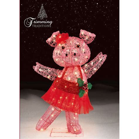 light up christmas dancing pig barnyard festive fun from
