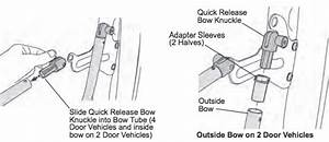 how to install bestop soft top quick release knuckles on With installing a new jeep soft top