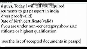 documents required for passport in india youtube With documents you need to get a passport