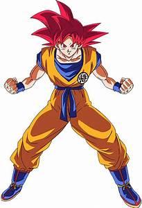 Goku, Super, Saiyan, God, Render, 2, Dokkan, Battle, By