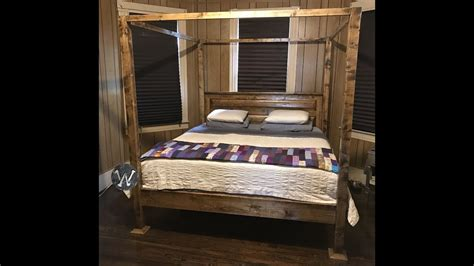Farmhouse Bed Frame (king Size Four Poster)