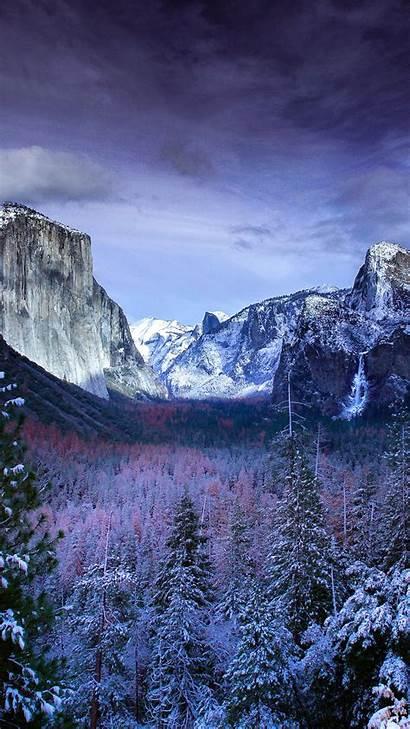 Iphone Mountain Winter Snow Plus Nature Mountains