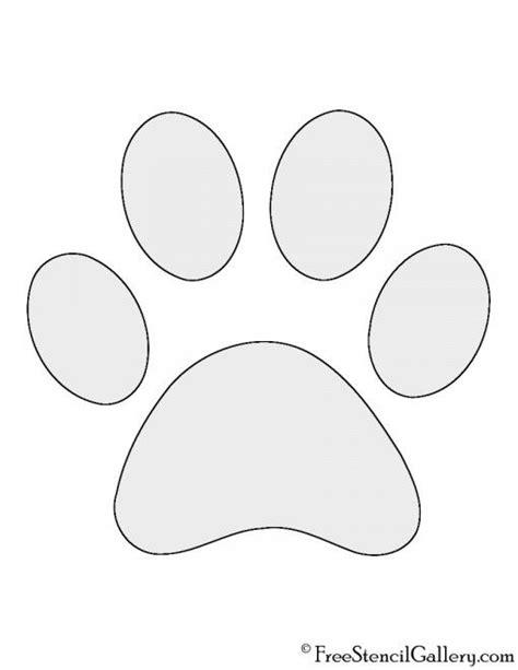 Dog Paw Print Stencil   Paw stencil