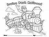 Coloring Train Pages Children Christmas Railroad Park Crossing Drawing Printable Things Rides Trains Easter Irvine Getcolorings Childrens Books Pumpkin Fun sketch template