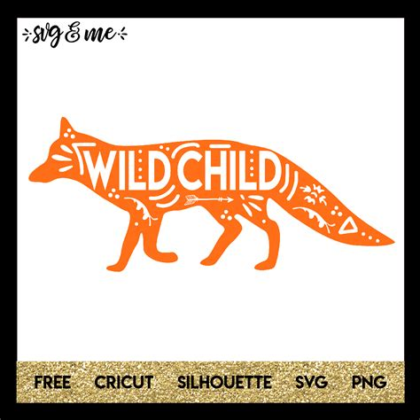 Click the logo and download it! Boho Wild Child Fox - SVG & Me