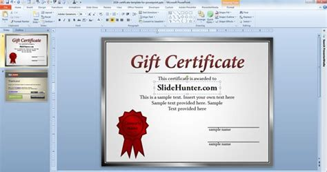Certificate Template Powerpoint by Certificate Powerpoint Template