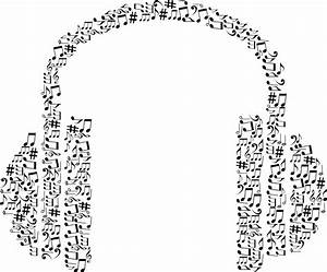 Free Clipart Of A Pair of Headphones made of black and ...