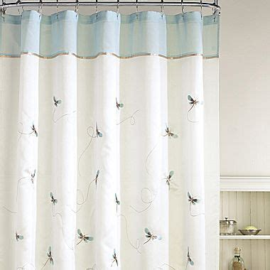 dragonfly whimsey shower curtain jcpenney   home shower curtain rods long shower