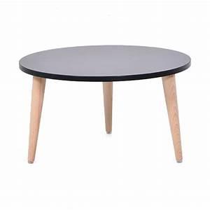 Table Basse Bois Scandinave : table basse ronde bois design table d 39 appoint style scandinave pour pme ~ Teatrodelosmanantiales.com Idées de Décoration