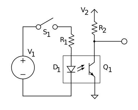 File Optocouple Circuit Svg Wikimedia Commons