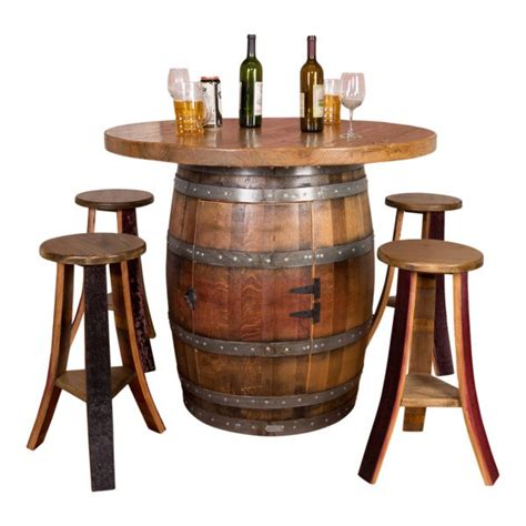 wine barrel  top table set napa east wine country
