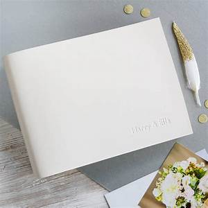 personalised small leather wedding album begolden With small wedding photo album