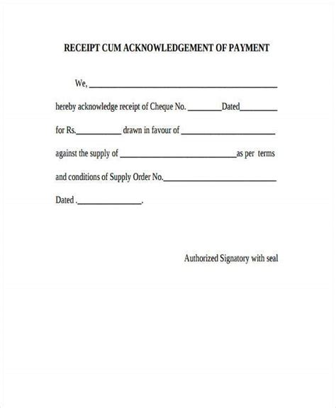 Let's have a detailed view regarding this. Acknowledgement Receipt Template | 11+ Free Word, Excel ...