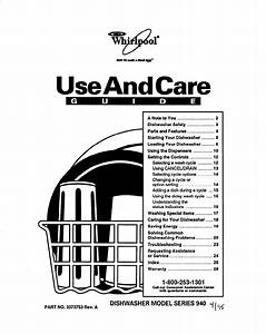 Whirlpool Dishwasher 940 User Guide