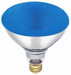 W par floodlight bulb blue indoor outdoor floodlights